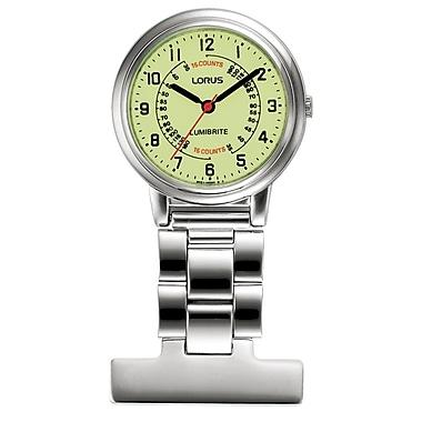 Lorus – Montre de poche infirmière en acier inoxydable RG253C avec cadran LumiBriteMD, montre 30mm