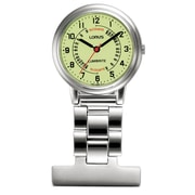 Lorus RG253C Stainless Steel Nurses' Fob Watch with LumiBrite® Dial, 30mm Watch