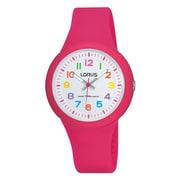 Lorus – Montre analogique avec bracelet en silicone RRX49E, rose, 32 mm