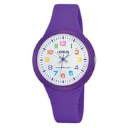 Lorus RRX47E Purple Analog with Silicone Strap, 32mm Watch