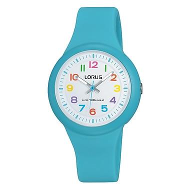 Lorus – Montre analogique avec bracelet en silicone RRX51E, bleu, 32 mm