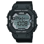 Lorus R2395K Black Digital Alarm Chronograph, 47mm Watch