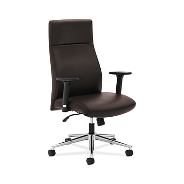 basyx by HON VL108 High-Back Executive Office Chair, Brown SofThread Leather, (BSXVL108SB45)