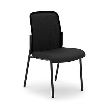 HONMD – Chaise d'invité polyvalente et empilable VL508 collection basyx, dossier en filet, sans accoudoirs, noir
