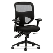 basyx by HON HVL532 Mesh High-Back Task Chair, Asynchronous Control, Seat Glide, 2-Way Arms, Black Mesh