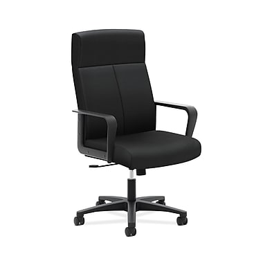 basyx by HON VL604 High-Back Executive Office Chair, Black Fabric, (BSXVL604ES10)