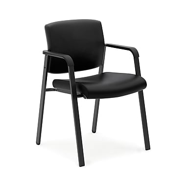HONMD – Chaise d'invité de luxe VL605 collection basyx, cuir SofThreadMC, noir