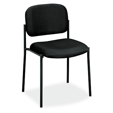 basyx by HON HVL606 Stacking Guest Chair, Black Fabric