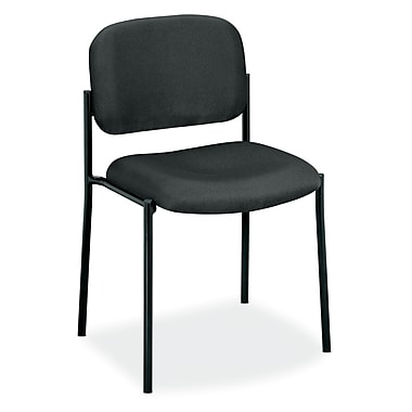 basyx by HON HVL606 Stacking Guest Chair, Charcoal Fabric