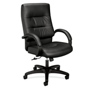 basyx by HON HVL691 Executive High-Back Chair, Center-Tilt, Fixed Arms