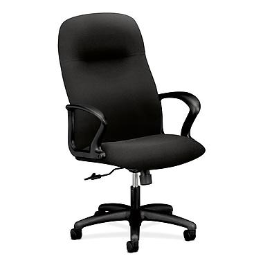 HON – Fauteuil de direction Gamut, chaise de bureau en tissu de polyester noir