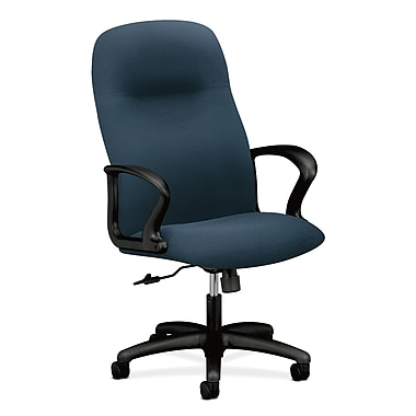 HON Gamut Executive High-Back Chair, Fixed Arms, Cerulean Polester Fabric with Nano-Tex Soil and Stain Repellant Technology