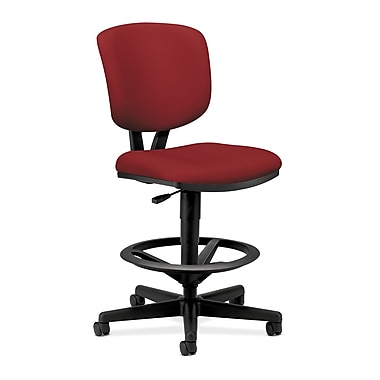 HON Volt Task/Drafting Stool, Extended Height, Footring, Crimson Fabric