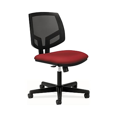 HON Volt Mesh Back Task Chair, Synchro-Tilt, Crimson Fabric