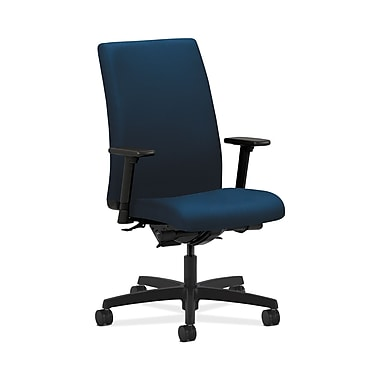 HON Ignition Mid-Back Task Chair, Synchro-Tilt, Back Angle, Adjustable Arms, Mariner Fabric