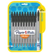 Paper Mate® InkJoy® 100RT Retractable Ballpoint Pens, Medium Point, Black, 20/pk (1951395)