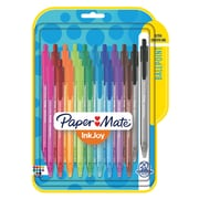 Paper Mate® InkJoy® 100RT Retractable Ballpoint Pens, Medium Point, Assorted, 20/pk (1951396)