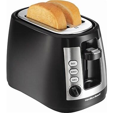 Hamilton Beach® 2 Slice Toaster with Warm Mode, Black/Stainless