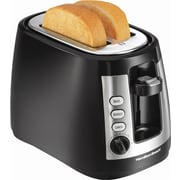Hamilton Beach® 2 Slice Toaster with Warm Mode, Black/Stainless