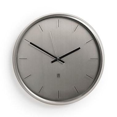 Umbra – Horloge murale Meta, nickel