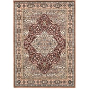"ecarpetgallery 5'6"" x 7'8"" Medallion style Rug, Copper/Dark Red"