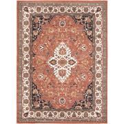 "ecarpetgallery 5'6"" x 7'6"" Medallion style Rug, Copper (101766)"