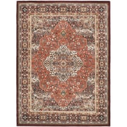 "ecarpetgallery 5'6"" x 7'5"" Medallion style Rug, Copper/Dark Red"