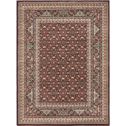 "ECARPETGALLERY 5'6"" x 7'6"" Medallion style Rug, Dark Red"