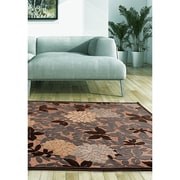 "ecarpetgallery 5'3"" x 7'6"" Dartmouth Rug, Dark Brown/Dark Grey/Ivory"