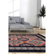 "ecarpetgallery 5'3"" x 7'6"" Granada Rug, Copper/Dark Navy Blue"