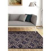 "ecarpetgallery 5'3"" x 7'6"" Mirage Rug, Dark Navy Blue/Light Grey"