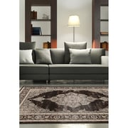 "ecarpetgallery 3'11"" x 5'3"" Shahrzad Kerman Rug, Cream/Dark Brown"