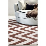"ecarpetgallery 5'0"" x 8'0"" Monaco Rug, Cream/Dark Brown"