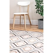 "ecarpetgallery 5'0"" x 8'0"" Abstract Art Rug, Cream/Dark Brown"