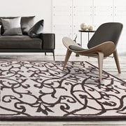 "ecarpetgallery 5'0"" x 8'0"" Abstract Art Rug, Cream/Dark Khaki"
