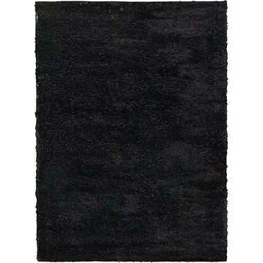Ecarpetgallery – Tapis à poil long Labrador 5 pi 3 po x 7 pi 3 po, noir