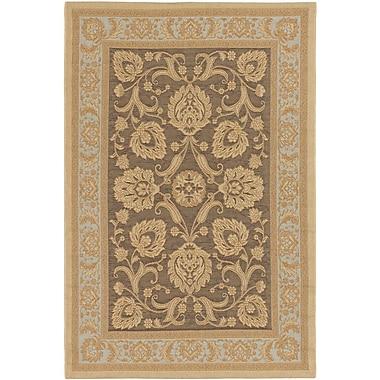 Ecarpetgallery – Tapis Versailles Antique 6 pi 4 po x 9 pi 1 po, brun foncé/jaune pâle