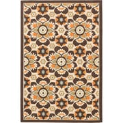 ecarpetgallery Tropicana Rugs, Cream/Dark Brown