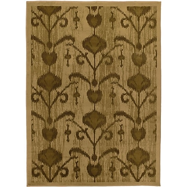 Ecarpetgallery – Tapis Ikat Vine, 5 pi 5 po x 7 pi 8 po, brun pâle