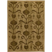 "ecarpetgallery 5'5"" x 7'8"" Ikat Vine Rug, Light Brown"