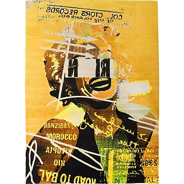 Ecarpetgallery – Tapis Punk, 5 pi 5 po x 7 pi 8 po, jaune