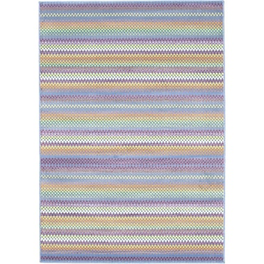 Ecarpetgallery – Tapis Chroma Pastel, 5 pi 5 po x 7 pi 9 po, bleu pâle
