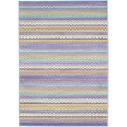 "ECARPETGALLERY 5'5"" x 7'9"" Chroma Pastel Rug, Light Blue"
