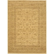 "ecarpetgallery 4'7"" x 6'5"" Golden Lotus Rug, Light Gold"