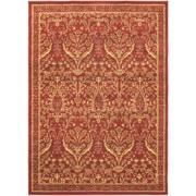 """ecarpetgallery 5'5"""" x 7'9"""" Oriental Garden Rug, Dark Red"""