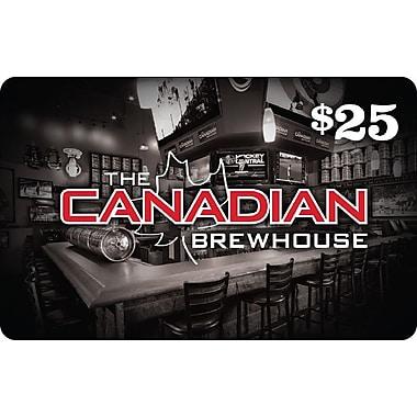 Canadian Brewhouse, carte-cadeau de 25 $