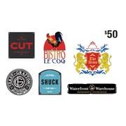 RCR Hospitality Group, carte-cadeau de 50 $