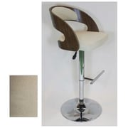 Cathay Importers Fabric Walnut Bentwood Counter/Bar Stool, Beige