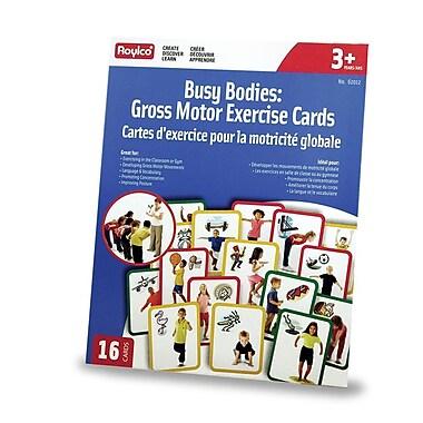 Roylco – Cartes d'exercice Busy Body Gross Motor R62012, 16/paquet