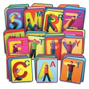 Roylco R62017 Twist and Spell Exercise Cards, 48/Pack